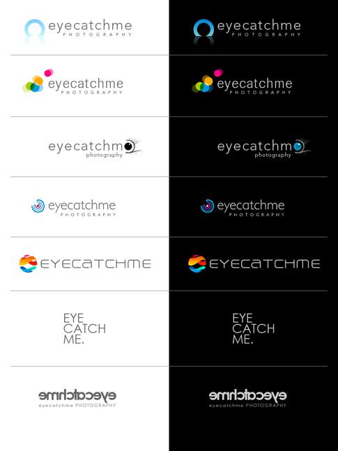 Entwicklung des Logos für das Fotostudio EYECATCHME. in Köln