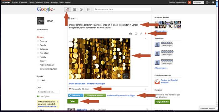 Hier erfährst Du wie Du einen Post bei Google+ erstellst