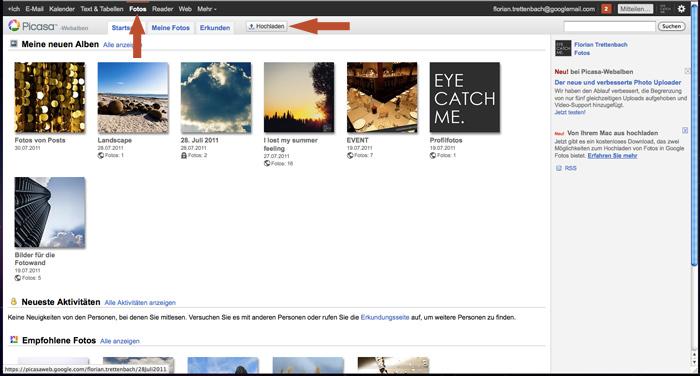 Fotos via Picasa zu Google+ hochladen
