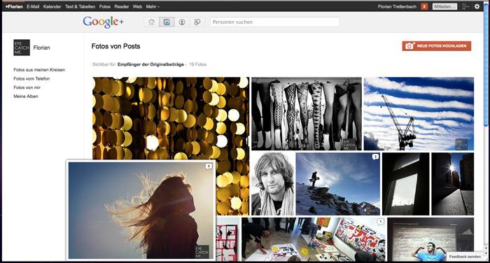 Schönes Layout der Google+ Foto Vorschau